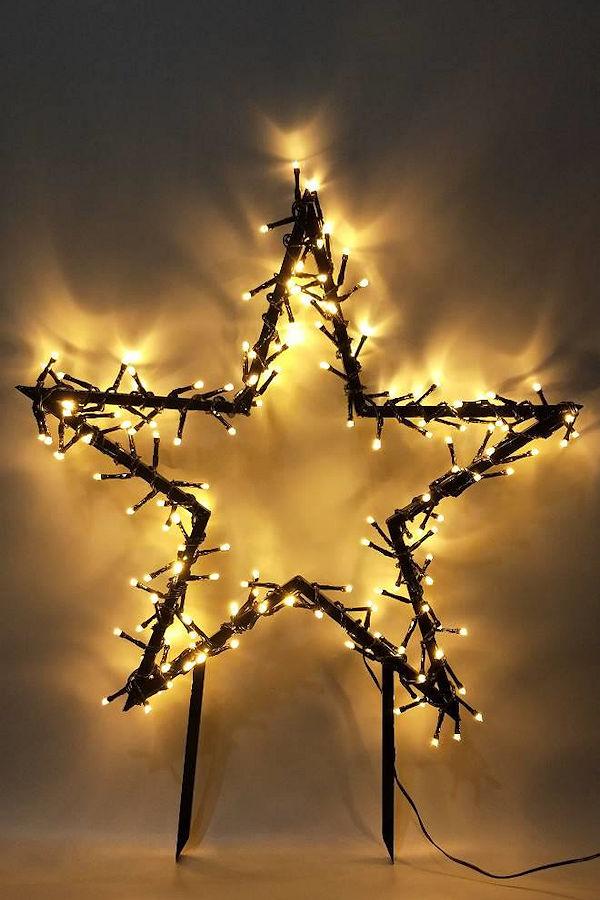 Universal Needs Weihnachtsbeleuchtung.Fhs Led Weihnachtsstecker Stern Xxl 60 Cm 150 Warmweiße Led