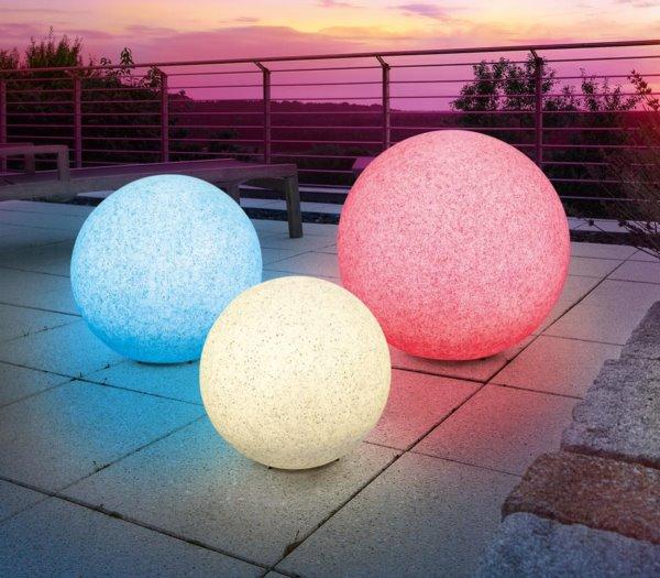 solar kugelleuchte mega stone 50 cm mit farbwechsel. Black Bedroom Furniture Sets. Home Design Ideas